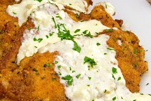 Chicken with Creamy Garlic Sauce