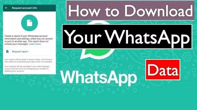Data Report: How to download WhatsApp data report