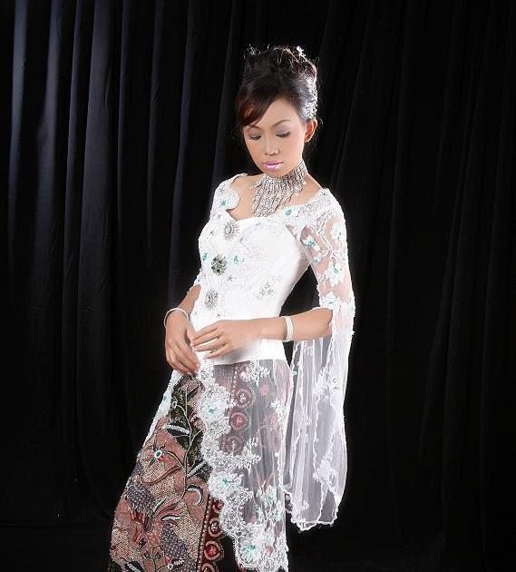 Contoh Gambar Batik Tanpa Warna: Contoh Gambar Model Pakaian Busana Kebaya Indonesia