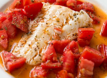 Cod with Tomatoes Recipe