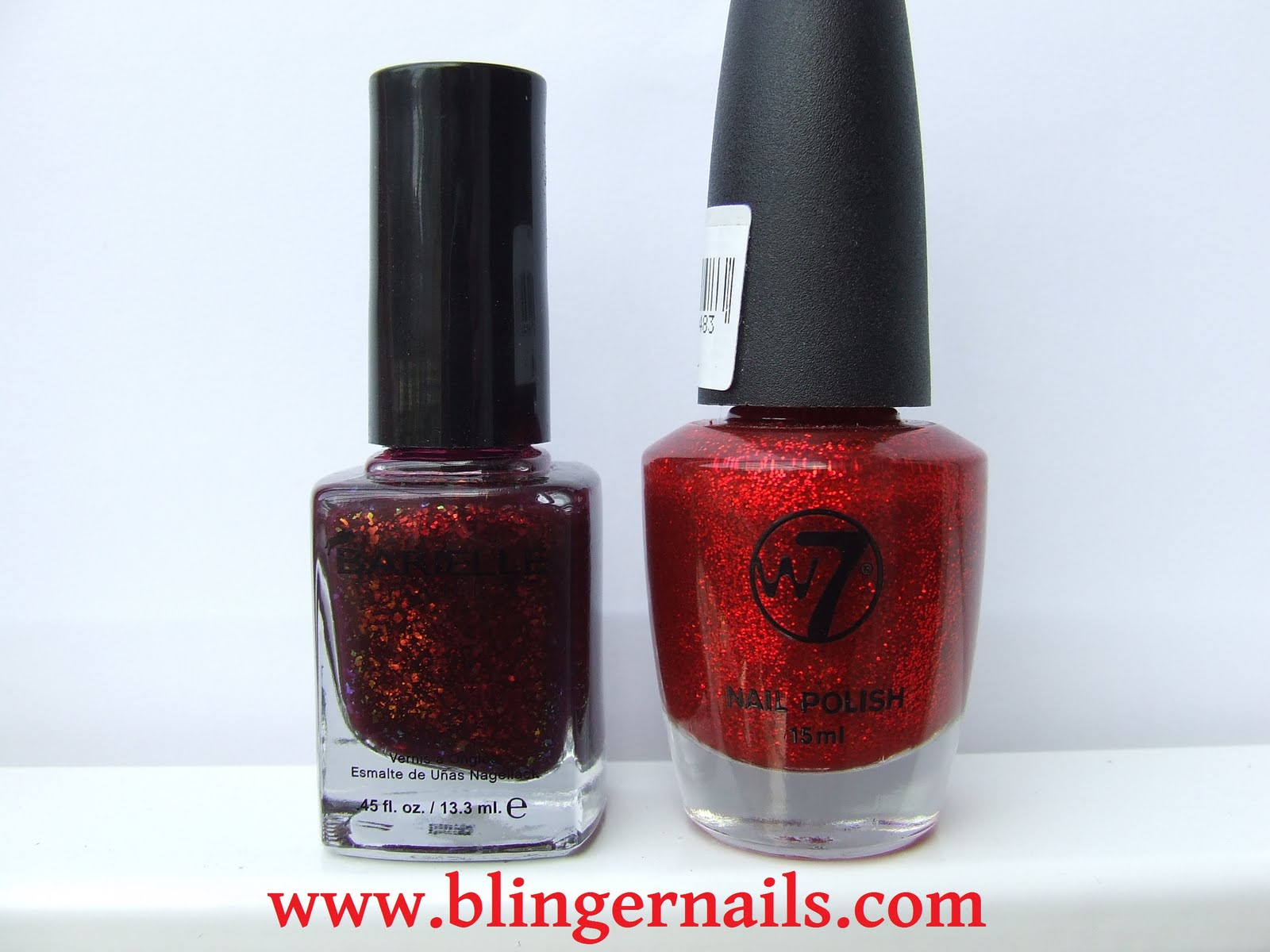 Blingernails: Barielle Elles Spell, W7 Layering and Fiery Flame Nail Art
