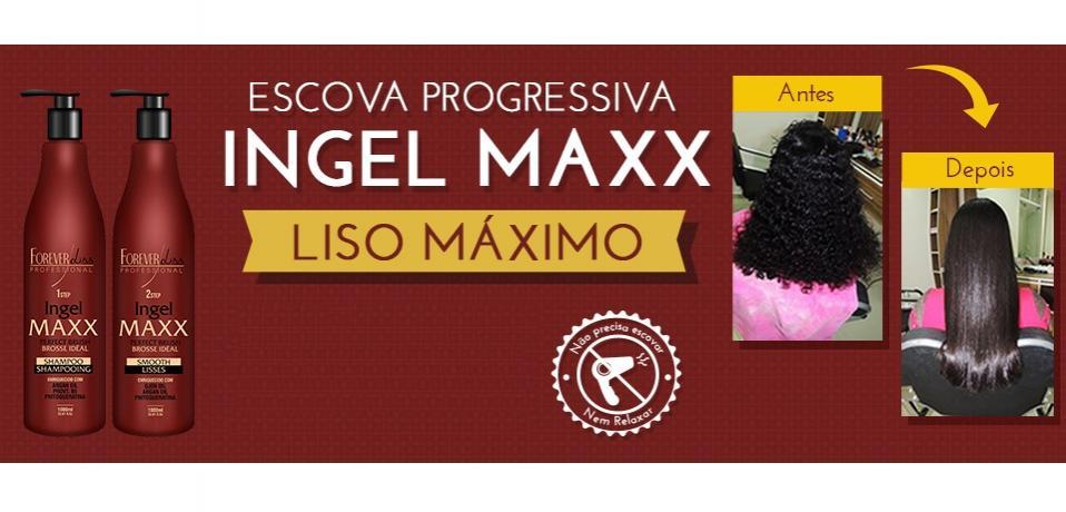 5cc57a57b Forever Liss Escova Progressiva Ingel Maxx - Kit 2x1000ml