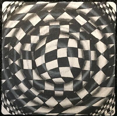 Zentangle Knightsbridge in a circle