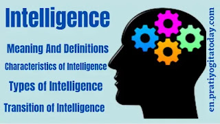 Intelligence meaning and definition, types of intelligence, characteristics of intelligence