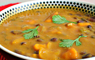 African Bean And Sweet Potato Soup