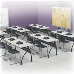 Classroom Tables with Folding Tops