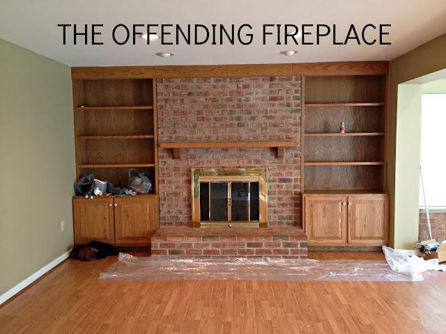 brick fireplace update
