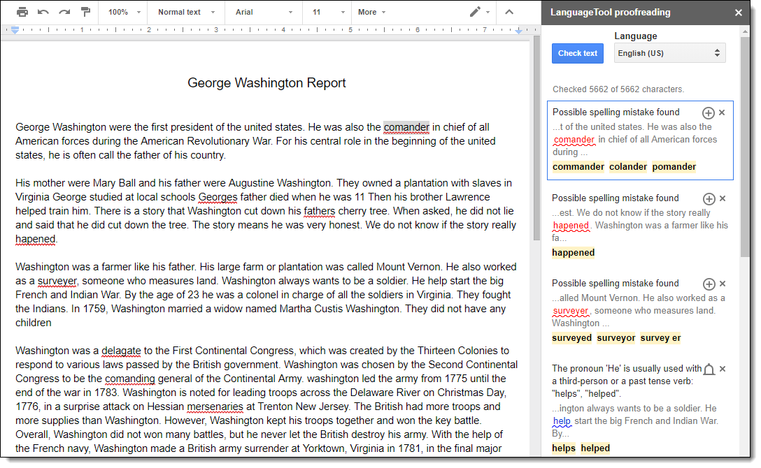 Control Alt Achieve: Self-Editing Tools for Student Writing