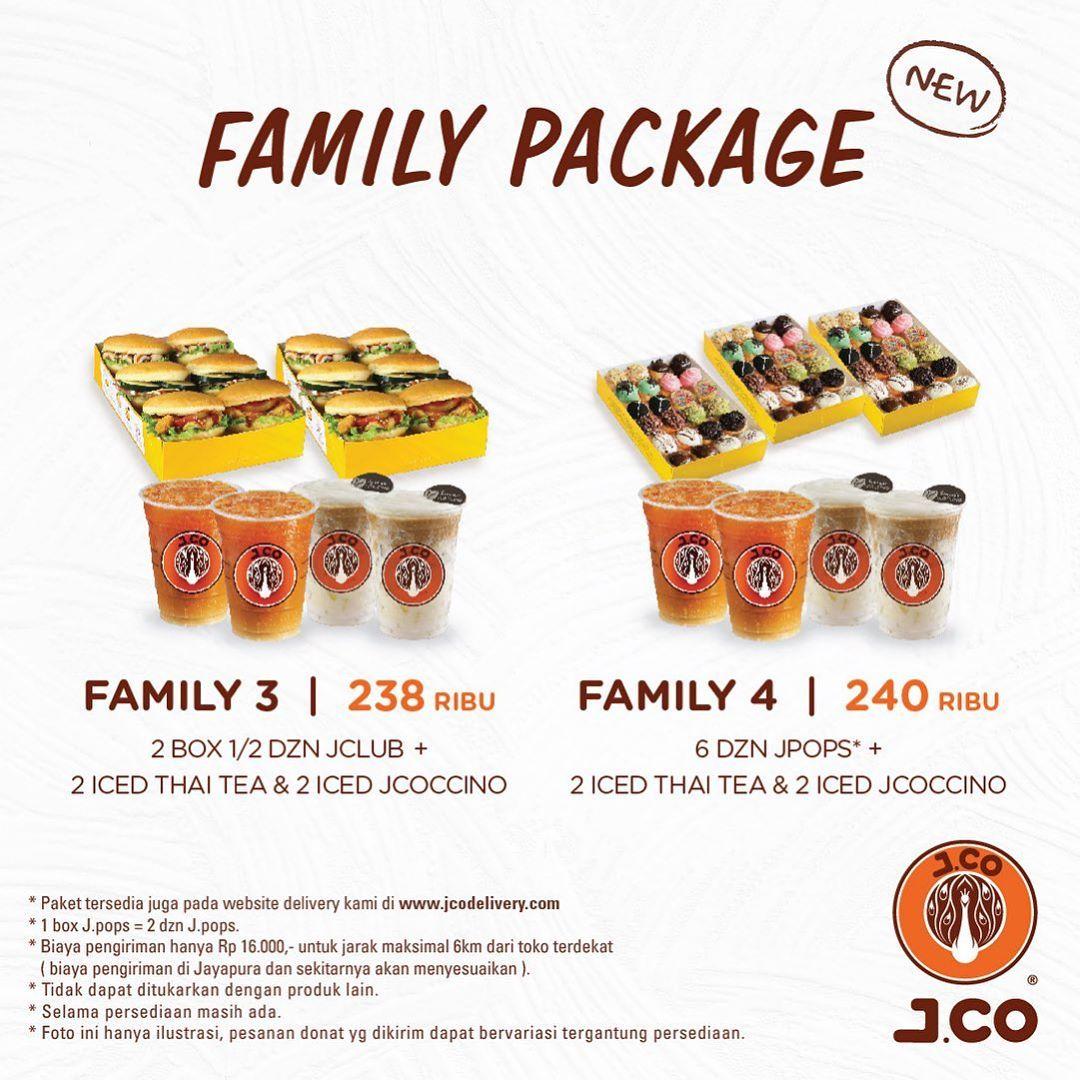 JCO Promo New FAMILY PACKAGE Mulai Rp 190.000