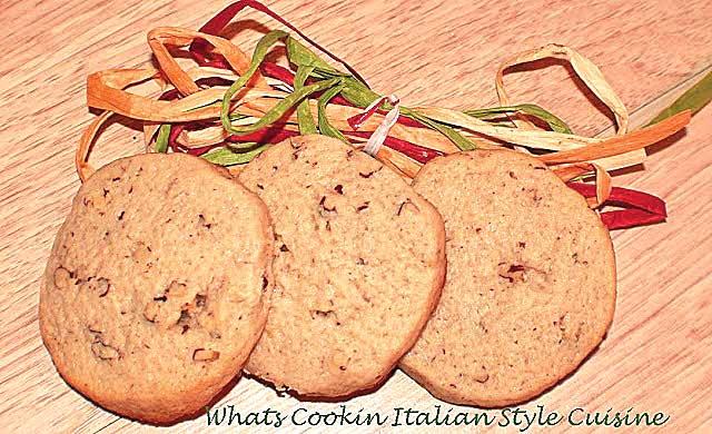 Slice and Bake Pecan Sandie Cookies