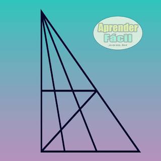 Quantos triângulos existem na imagem? Resposta!