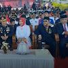 Kapolrestabes Makassar dan Ketua Bhayangkari Tabes Makassar Hadiri Upacara Pengibaran Bendera Merah Putih