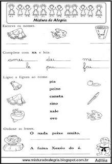 Atividade alfabetização famílias silábicas