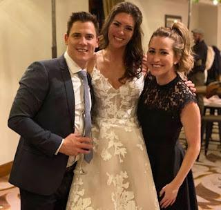 Kylie Bearse in her friend wedding