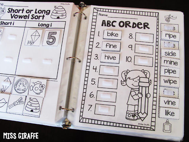 ABC order with long vowels words and other fun long i activities