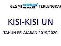 Download Kisi-Kisi UN SMP/MTs Tahun 2020 TERLENGKAP Resmi BSNP