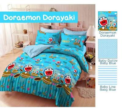 Sprei Doraemon Dorayaki bahan star