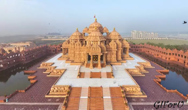 Akshardham Temple - places vidit in delhi-GIforU