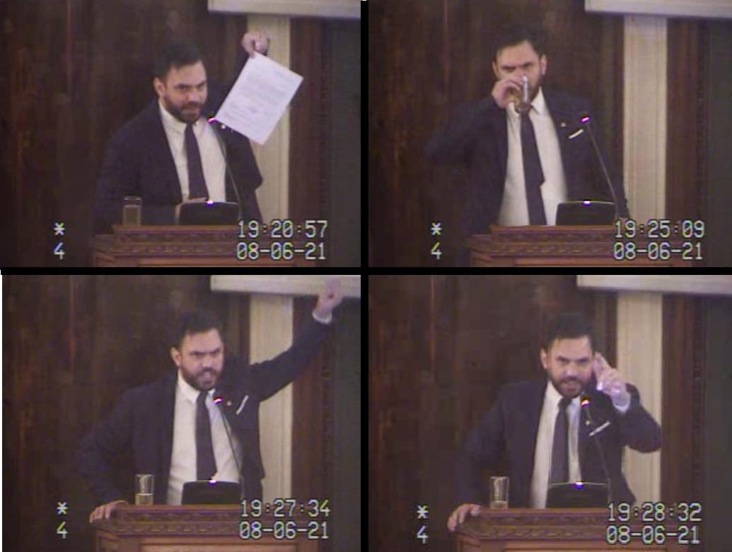 Del Castillo no reparó en adjetivos para descalificar al anterior gobierno y a la oposición / CAPTURA DIPUTADOS