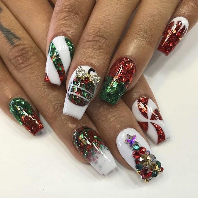 30+ holiday nails christmas simple