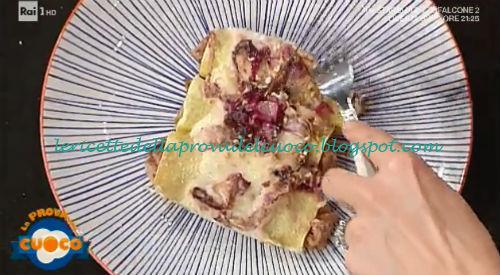 Cannelloni radicchio salsicce e nocciole ricetta Diego Bongiovanni da Prova del Cuoco