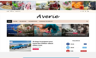 Averia Blogger Templates for fashion Blog