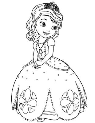 Gambar Mewarnai Putri Sofia - 5
