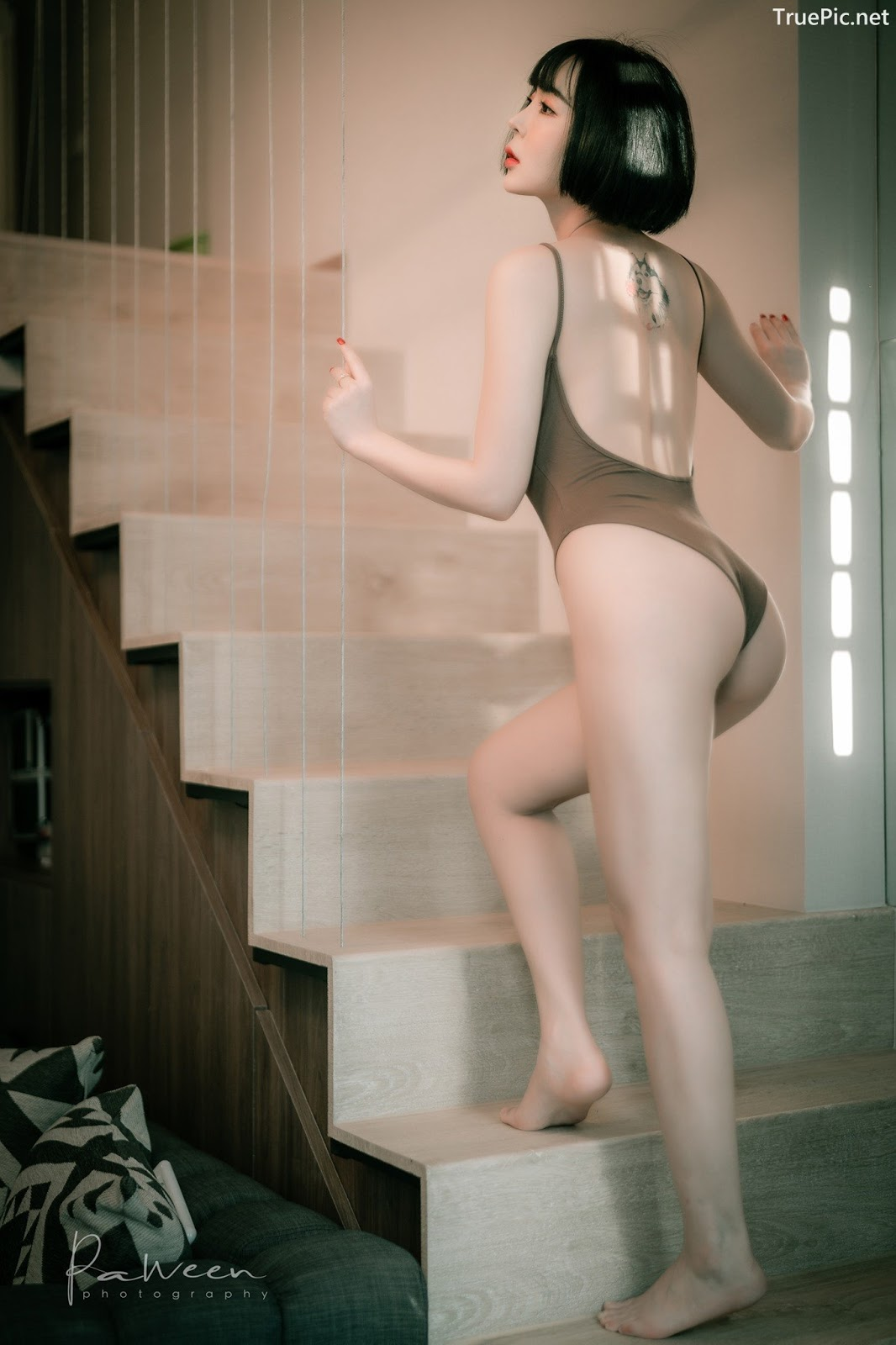 Image Thailand Model - Preeyapon Yangsanpoo - One Piece Swimsuit In House - TruePic.net - Picture-2