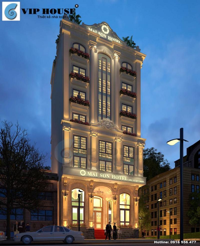 Hình ảnh: Thiết kế khách sạn tân cổ điển 9 tầng La MaiSon tại Quy Nhơn