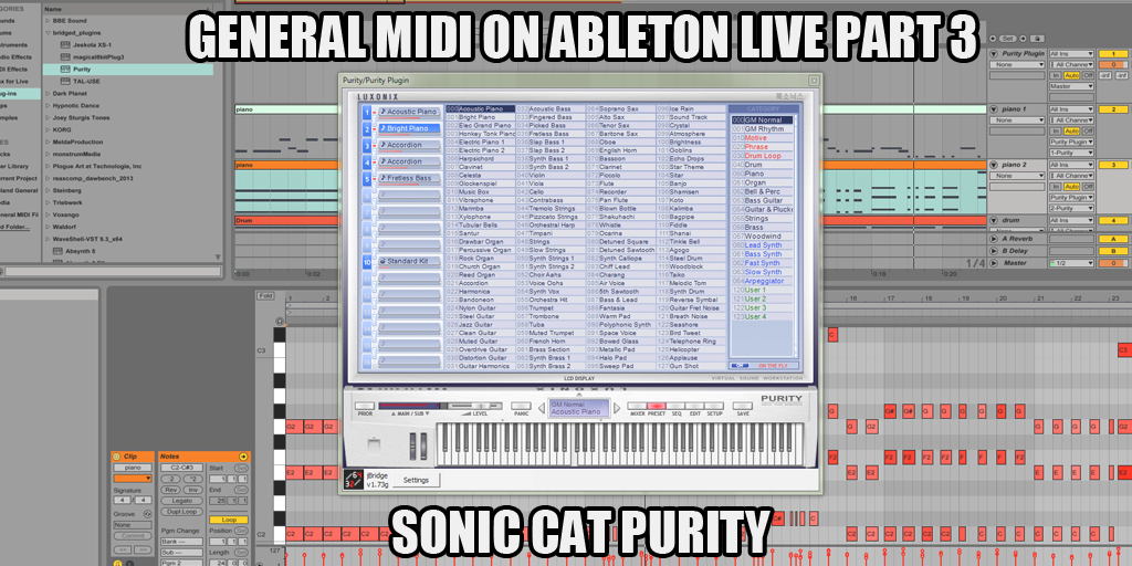 Ultimate Outsider: Playing General MIDI Files on Ableton Live Part 3