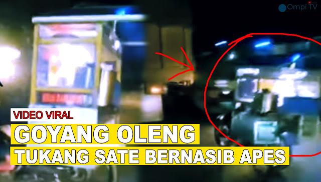 VIRAL Video Tukang Sate Tabrak Truk Karena Diejek Pengendara Motor