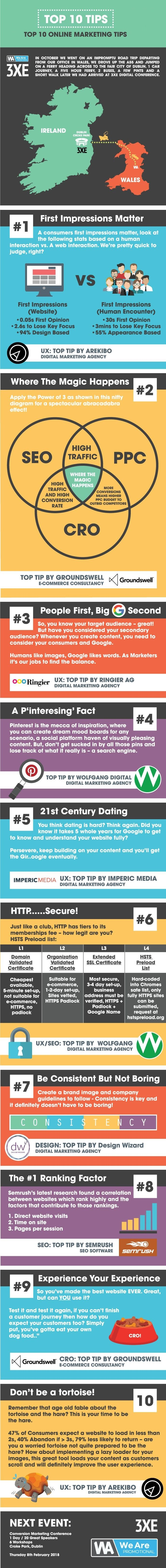 Top 10 Online Marketing Tips - #infographic