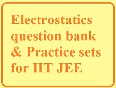 Electrostatics Question Bank PDF| IIT JEE Question Bank