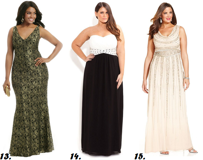 monty q plus length dresses