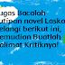 Tugas Bacalah kutipan novel Laskar Pelangi berikut ini, Kemudian Buatlah Kalimat Kritiknya!
