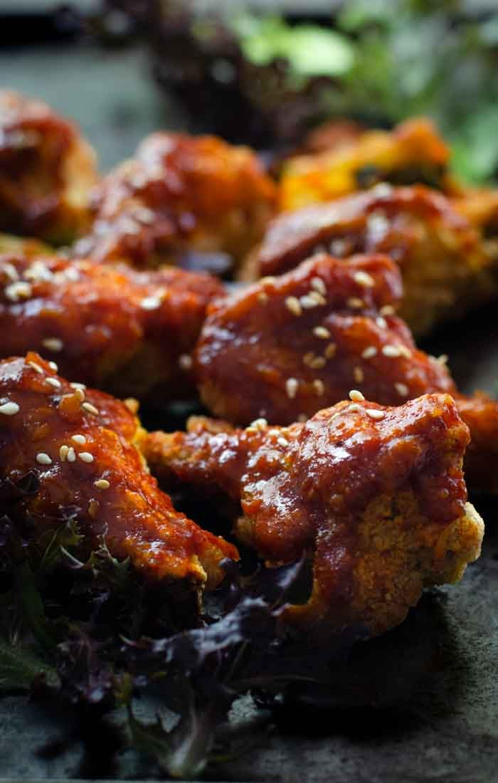 Korean spicy chicken wings
