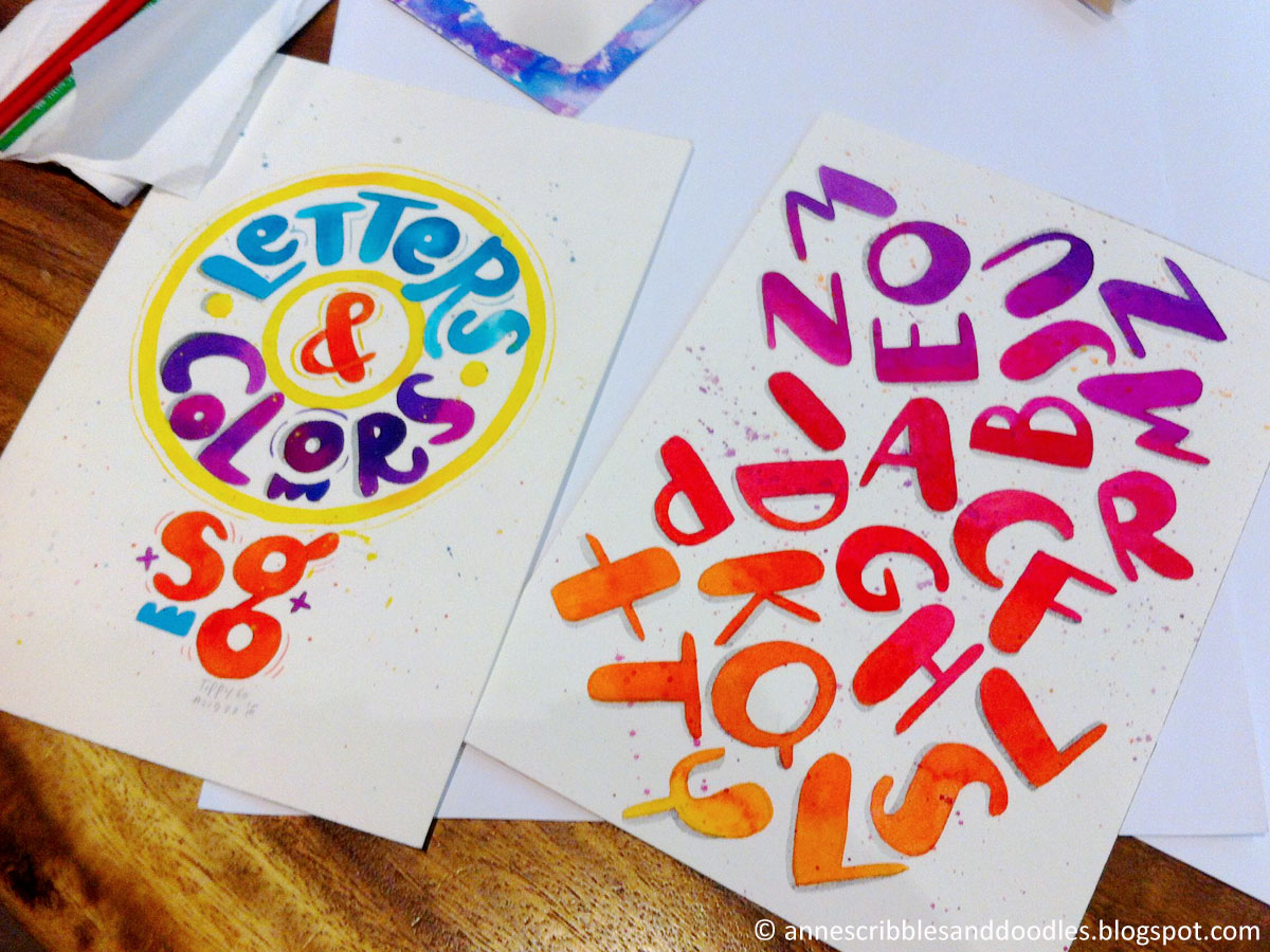 Googly Gooeys Brush Lettering and Watercolor Workshop | Anne's Scribbles and Doodles
