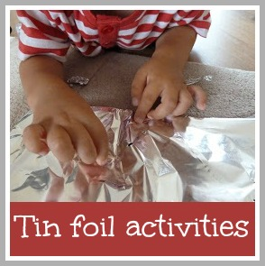 Tin foil activities for toddlers