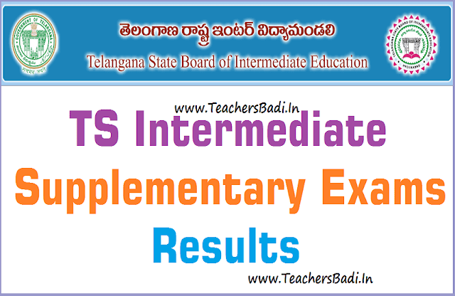TS Inter Supplementary Exams 2019 Results,TS Inter 1st year results,TS Inter 2nd year results