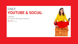 Jazz Daily YouTube and Social Bundle in Just Rs 15