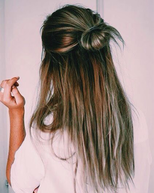 half bun I  Sexy, Fun & Flirty Summer Hairstyles