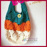 Bolso piña a crochet