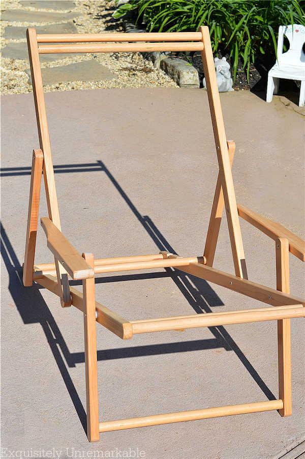 Wooden Cabana Chair Frame