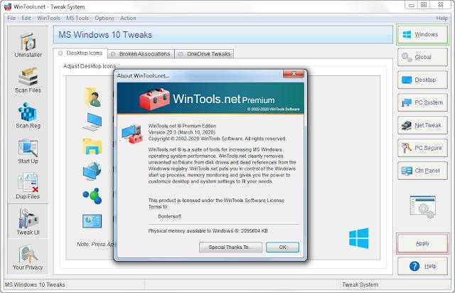 Screenshot WinTools.net Premium 20.3 Full Version