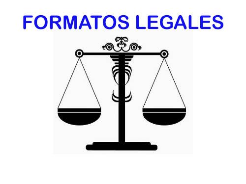 FORMATOS LEGALES