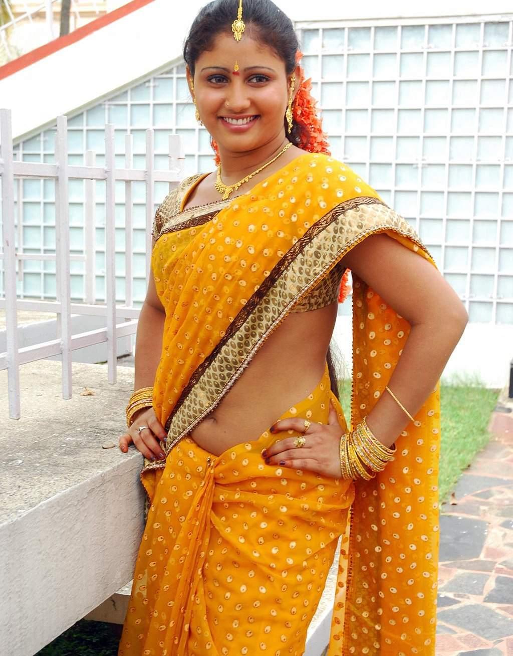 Spicy Saree: Actress Photos: Actress Amruthavalli Saree Below Navel