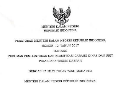 Pembentukan Klasifikasi Cabang Dinas dan Unit Pelasana Teknis Daerah (UPTD), http://www.librarypendidikan.com/