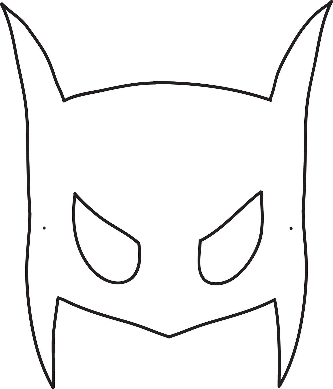 Batwoman mask template - photo#27