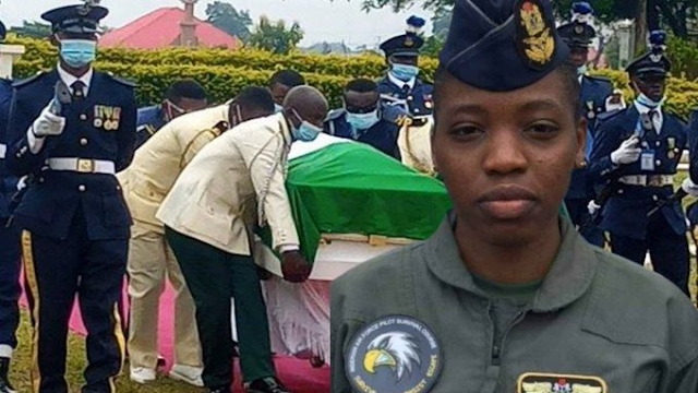 Tolulope Arotile, Nigeria's first female fighter pilot laid to rest in Abuja, amidst tributes