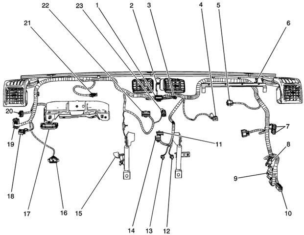 2005 silverado engine wiring harness